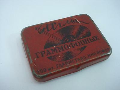 1950s VINTAGE RUSSIAN GRAMOPHONE PHONOGRAPH NEEDLE BOX