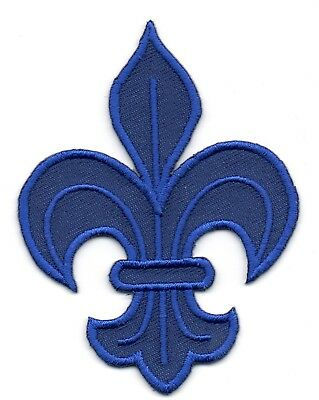 Patch ecusson brodé FLEUR DE LYS roi de france royal