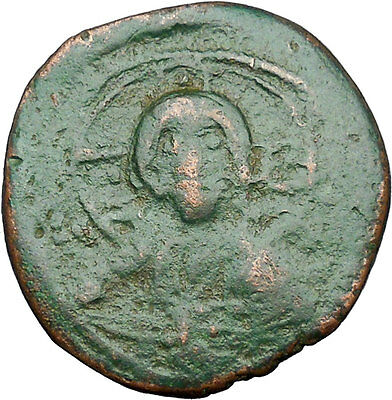 JESUS CHRIST Class E Anonymous Ancient 1059AD Byzantine Follis Coin  i34599