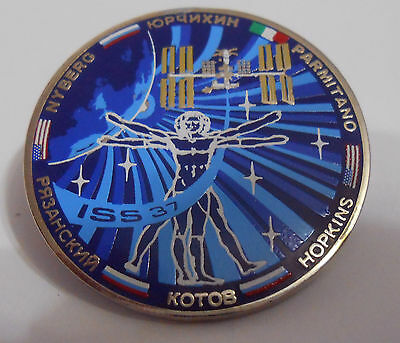 Expedition 37 ISS International Space Station Mission Lapel Pin Official NASA