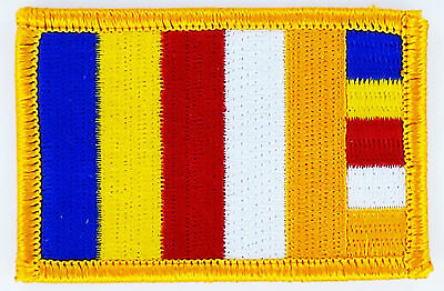 PATCH ECUSSON BRODE DRAPEAU bouddhiste Bouddha TIBET THERMOCOLLANT NEUF FLAG