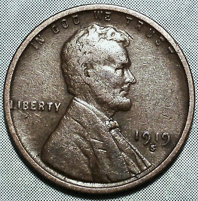 1919 S Wheat Penny  XF EXTRA FINE WW1 Cent SAN FRANCISCO Collectible MORE- STORE