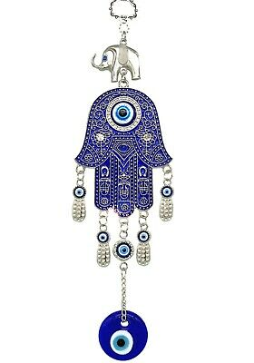 Blue Hamsa Evil Eye  Charm Almulet  Hanging car Wall Decoration for Protection
