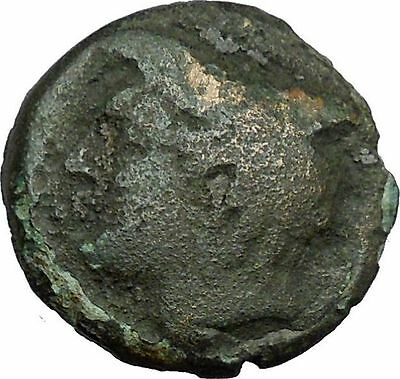 AINOS in THRACE 280BC Rare Authentic Ancient Greek Coin Hermes Caduceus i34308