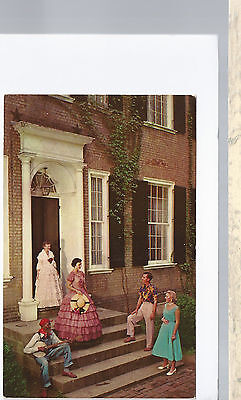 My Old Kentucky Home On The Steps  Bardstown  KY   Unused Chrome Postcard 913