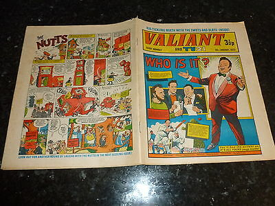 "VALIANT & TV21 Comic - Date 20/01/1973 - Inc ""STAR TREK"" Adventure - UK Comic"