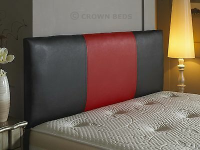 2 tone faux leather headboard in 2ft6,3ft,4ft,4ft6,5ft,6ft mix and match