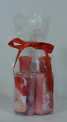 Bath & Body Works PINK CHIFFON Travel Size / Gift Bag 3 Pack Body Care