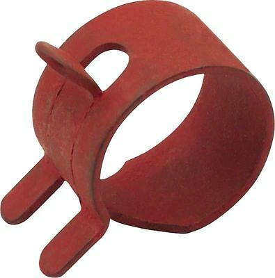 """1/4"""" Id, 1/2"""" Od Fuel Line Hose Clamps Red Part # 791850 Pack Of 10"""