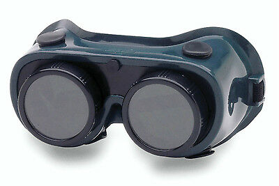 Crews 28550 50MM Filter 5.0 Stationary Welding Goggle with Round Lens and Covers