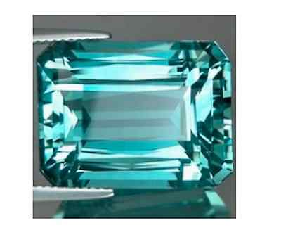Octagon AAA Rated Aquamarine Colored Blue Green Cubic Zirconia (5x3 to 18x13mm)