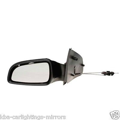 Vauxhall Astra H Mk5 Primed Manual Door/wing Mirror N/s Near Passenger 2004-2009