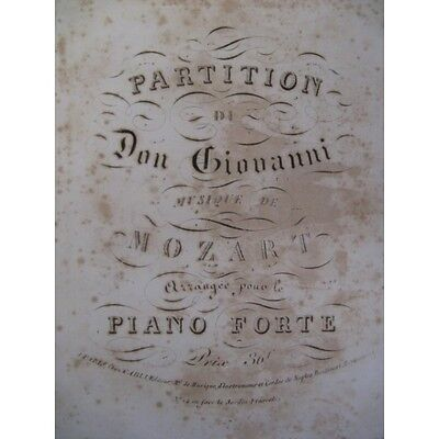 MOZART W. A. Don Giovanni Opéra ca1810 Partition Score Sheet Music