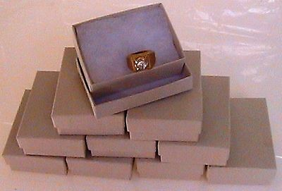10 Kraft #32 (Oatmeal) Cotton Filled Jewelry Gift Boxes 3 1/8 x 2 1/8 x 1 1/16