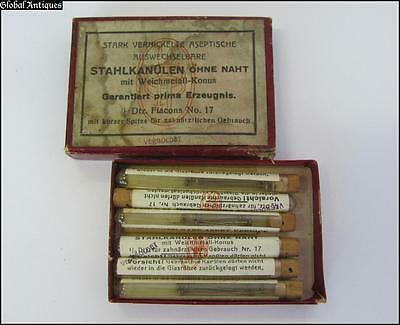 Wwii German Boxed Set Of Dental Anesthesia Needles - Injecta