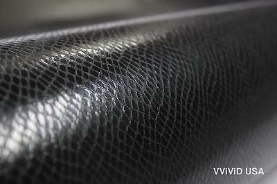 Black Snake Leather Cast Vinyl 5ft x 7ft New Bubble-Free Car Interior Film