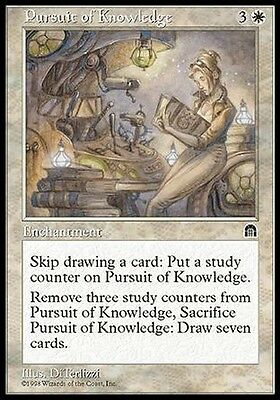 Ricerca del Sapere - Pursuit of Knowledge MTG MAGIC SH Stronghold Eng/Ita