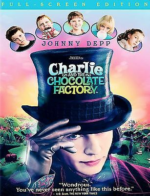 Charlie and the Chocolate Factory (DVD, 2005, Full Frame) Johnny Depp LN