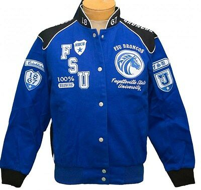 NEW! Ladies Fayetteville State University Broncos Fraternity Twill Jacket