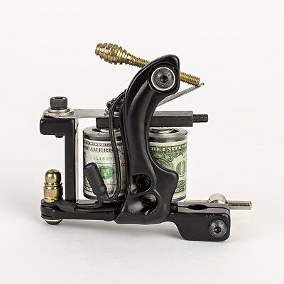 NEW Pro Tattoo Machine Gun Liner Shader Dual 10-Wrap Coil Supply Set Black Color