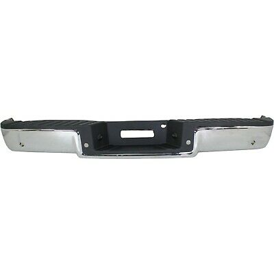 NEW Chrome - Complete Rear Steel Bumper Assembly For 2006-2008 Ford F150 w/ Park