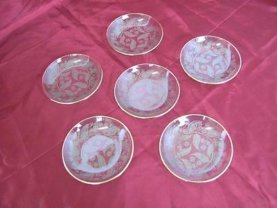 1930s VINTAGE DECORATIVE CRYSTAL GLASS PLATES SET