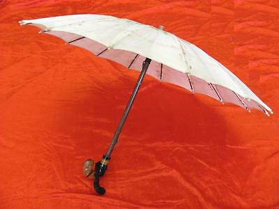 1930s VINTAGE ORIGINAL LADY SUN UMBRELLA w/CELLULOID HANDLE