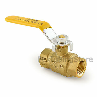 "1/2"" NPT Brass Ball Valve Full Port, Shut-Off Valves, UL CSA FM, 600psi WOG"