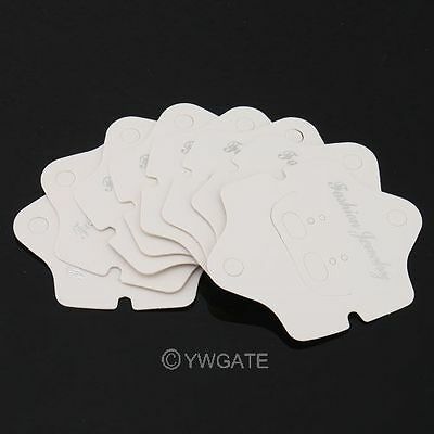 100PCS New Paper Jewelry Display Wedding Favour Tags Hanging Cards Tags 7.4x6CM