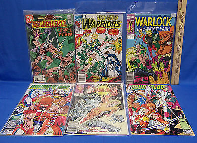 DC & Marvel Comic Books Warriors Warlord Warlock Youngblood Solarman Lot of 6