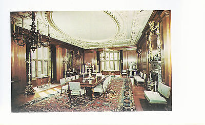 Formal Dining Room Meadow Brook Hall Oakland U MI  Unused Chrome Postcard 953