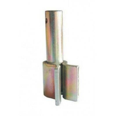 20x WELD ON MALE 20mm LONG PIN Blue Zinc - Standard Angle Hinge Gate