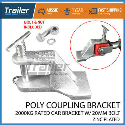 Poly Coupling Bracket Car Zinc For Off-Road Trailer Caravan Suits Treg Or Trigg