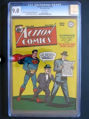 Action Comics #100 DC 1946 -NEAR MINT- CGC 9.0 NM - Superman - Looks 9.6!!!