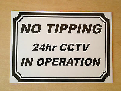 No Tipping 24 hour CCTV in operation Sign (CL-03)