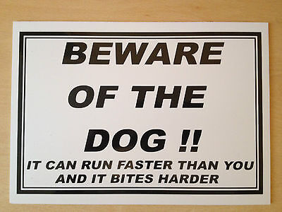Beware of the Dog Sign (DL-02)