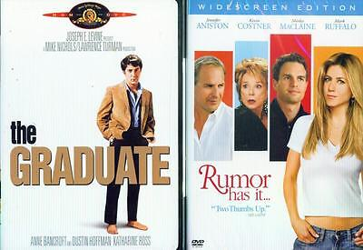 GRADUATE, THE 1-2: Rumor Has It- Hoffman+Aniston+Costner+MacClaine- NEW 2 DVD