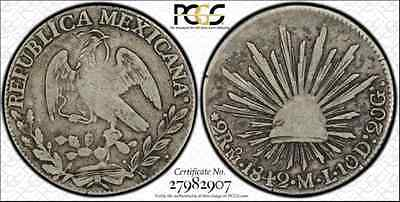 "1842 Mo Ml 2R Reale Pcgs Vg10 ""very Rare"" Numista ""rare"" Krause Top Pop Only 1"