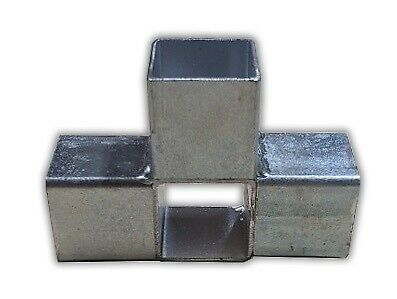 1x STEEL CONNECTOR JOINERS 25mm SQUARE (AJ4) Aviary Frame Trailer Pipe DIY AU