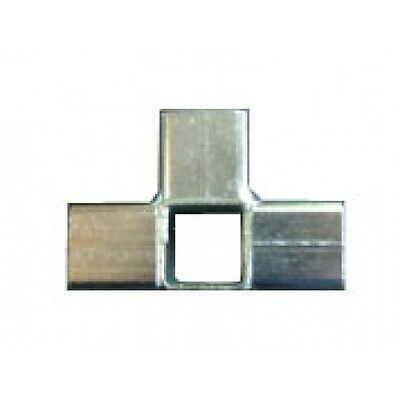 20x STEEL CONNECTOR JOINERS 25mm SQUARE (AJ4) Aviary Frame
