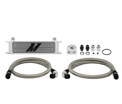 Mishimoto Universal 10 Row Oil Cooler Kit - Silver