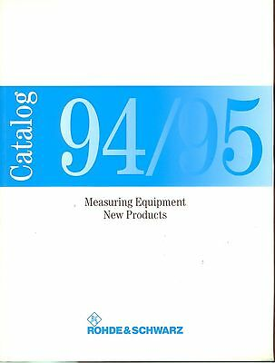 Rohde & Schwarz 1994-95 new products Catalogue