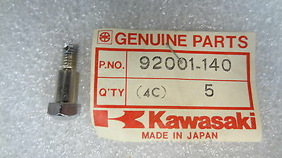 Kawasaki NOS NEW  92001-140 Hex Head Bolt 6mm F12 KX KD KLX KDX F12MX  1973-84