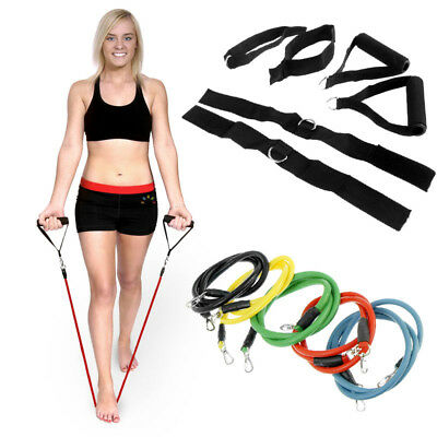 Yoga Resistance Bands Set Home Gym Fitness Exercise Workout Stretch Straps