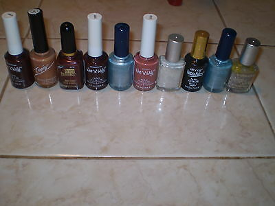 Wholesale Lot 0f 10 Wet n Wild Nail Polish Various Colors Some Duplicates