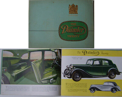 Daimler Twenty 20 Saloon & Sports Saloon 1938-39 Original Sales Brochure