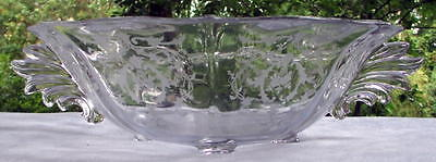 Large Fostoria Footed Navarre Etch Console Bowl Baroque Blank