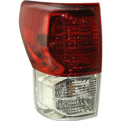 Tail Light For 2010-2013 Toyota Tundra LH w/ Bulb(s) Clear & Red Lens