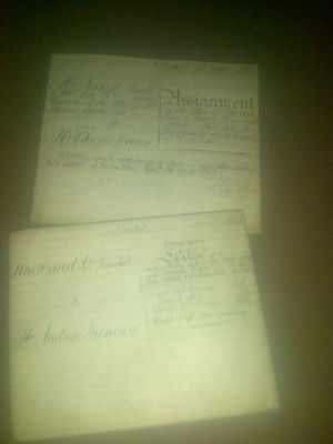 Two Documents - Brake, Javens, Cowan, Red Lion & French Horn, Thomson, Whitbread