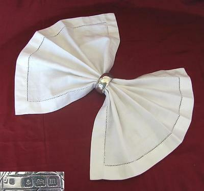 1911 ANTIQUE BRITISH SOLID STERLING SILVER NAPKIN RING 19 grams